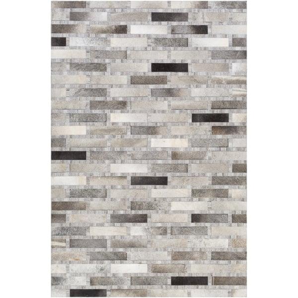Light Grey, Dark Brown, Ivory (MOD-1023) Contemporary / Modern Area Rug