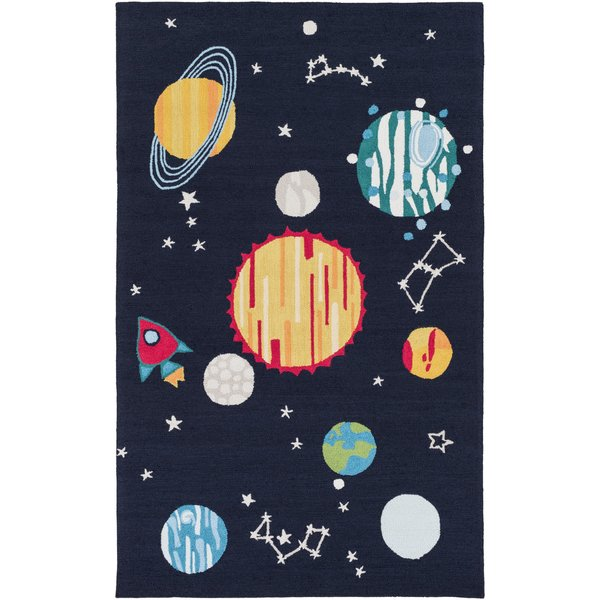Navy, Yellow, Red, Blue, Emerald, Ivory (PKB-7009) Children's / Kids Area Rug