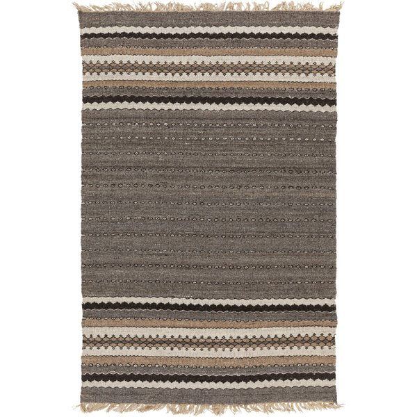 Dark Brown, Khaki, Black Moroccan Area Rug