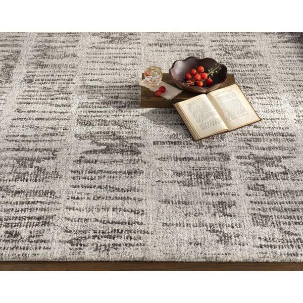 Medium Gray, Light Gray, Black, Cream (PML-1000) Contemporary / Modern Area Rug
