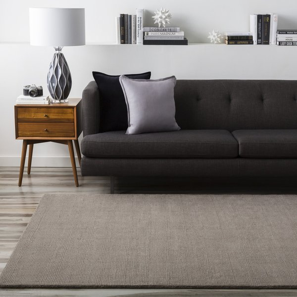 Medium Gray (M-266) Solid Area Rug
