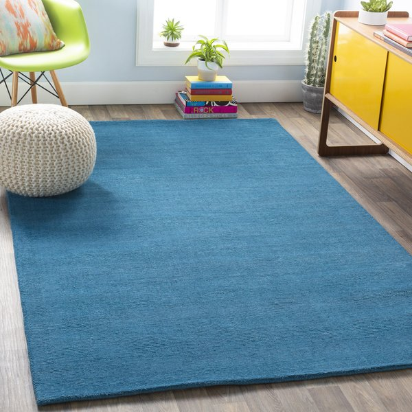 Bright Blue (M-342) Solid Area-Rugs