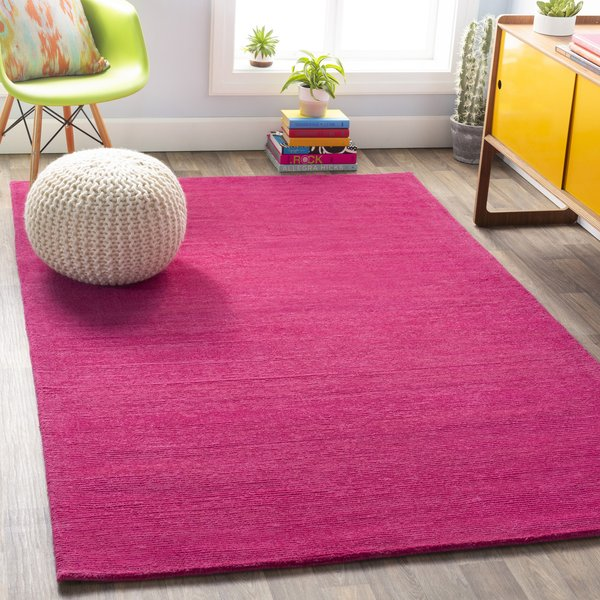 Bright Pink (M-5327) Solid Area Rug