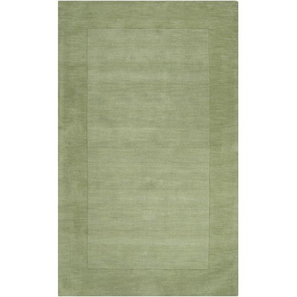 Grass Green, Dark Green (M-310) Contemporary / Modern Area Rug