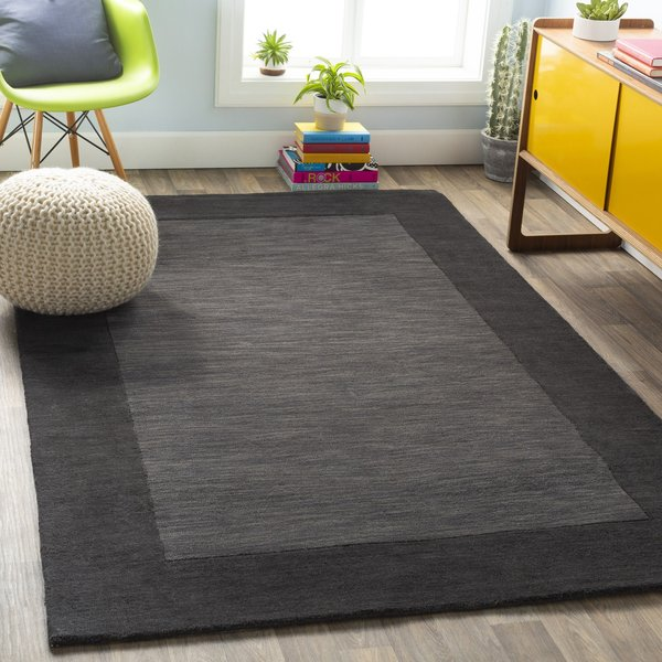 Charcoal, Black (M-347) Contemporary / Modern Area Rug