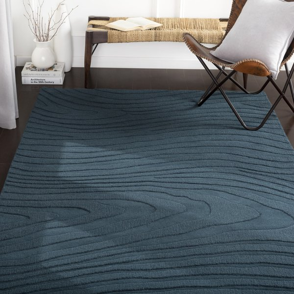 Teal (M-5463) Contemporary / Modern Area Rug