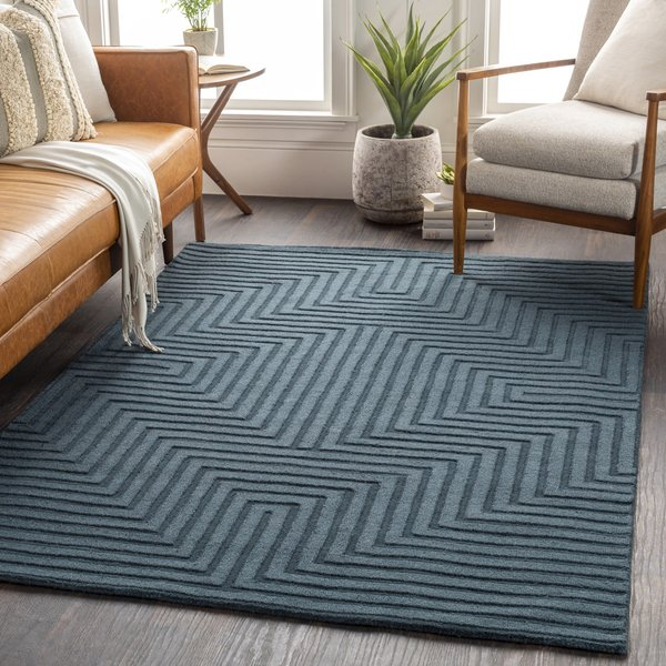 Teal (M-5466) Contemporary / Modern Area Rug