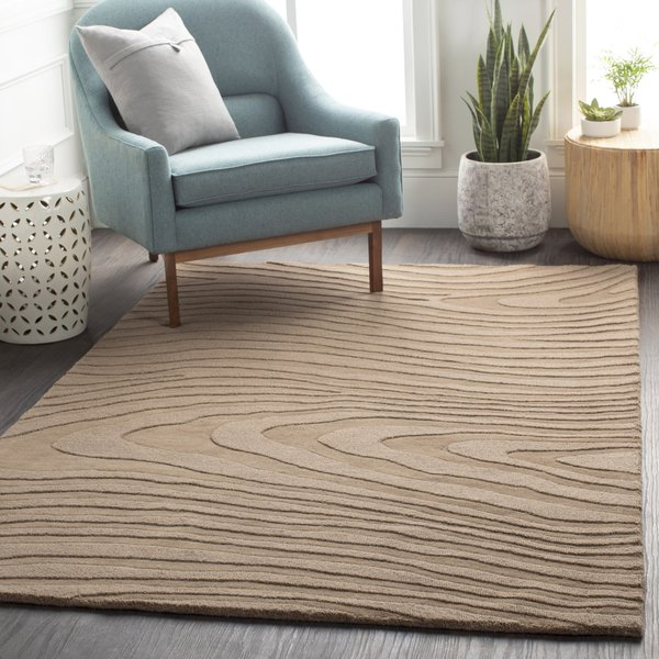 Brown Abstract Area Rug