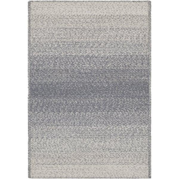 Medium Grey, Cream (AIE-1006) Contemporary / Modern Area Rug