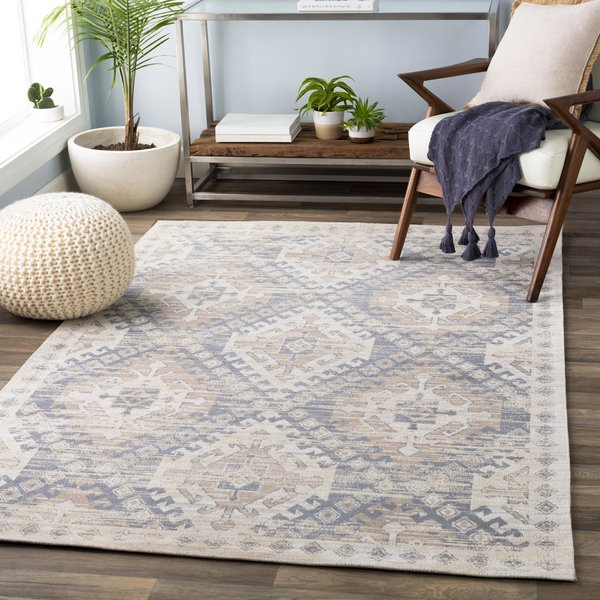 Gray, Taupe, Ivory (1001) Moroccan Area Rug