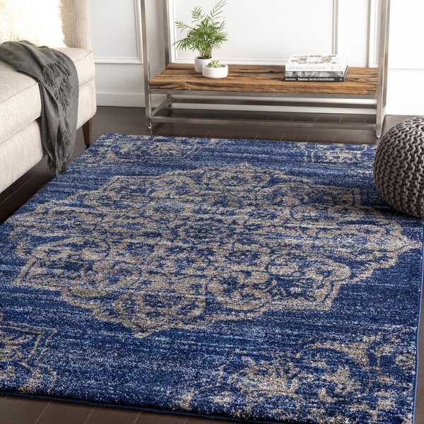 Dark Blue, Navy, Denim, Sky Blue (BYL-1029) Traditional / Oriental Area Rug