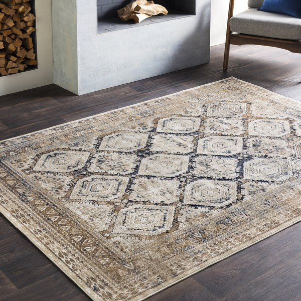 Beige, Taupe, Charcoal, Medium Grey, Camel Traditional / Oriental Area-Rugs