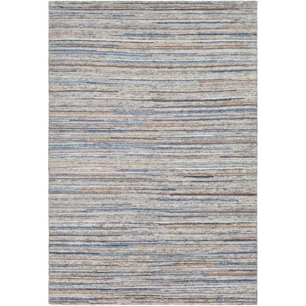 Ivory, Black, Dark Brown (ENL-1000) Contemporary / Modern Area Rug