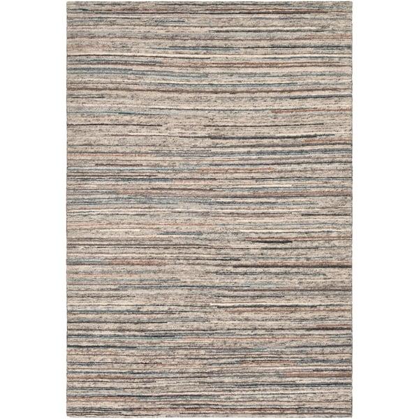 Peach, Burnt Orange, Cream, Light Grey (ENL-1001) Contemporary / Modern Area Rug