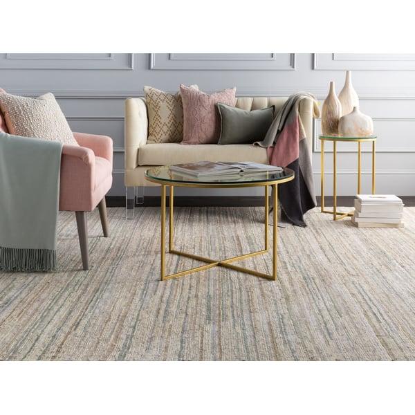 Cream, Sage, Light Grey (ENL-1002) Contemporary / Modern Area Rug