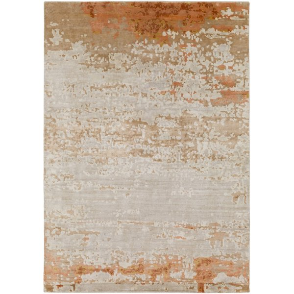 Burnt Orange, Peach, Wheat (EPH-1001) Contemporary / Modern Area Rug
