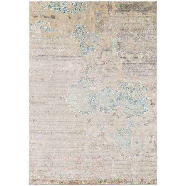 Sky Blue, Seafoam, Butter (EPH-1000) Contemporary / Modern Area Rug