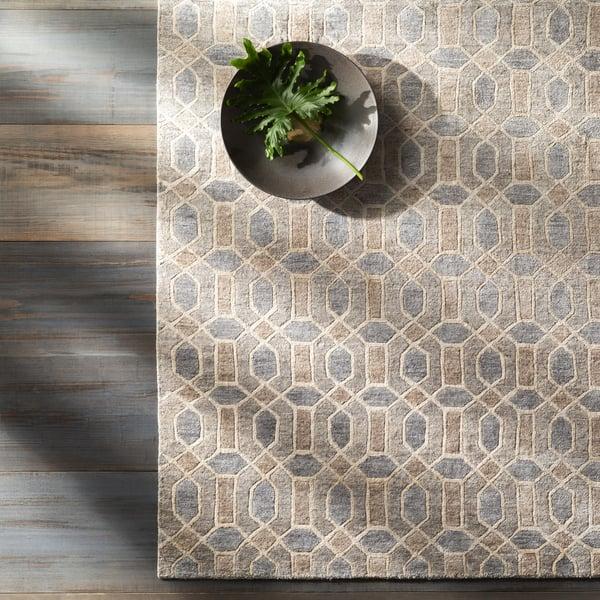 Khaki, Taupe, Medium Grey, Tan (FNT-1002) Contemporary / Modern Area-Rugs