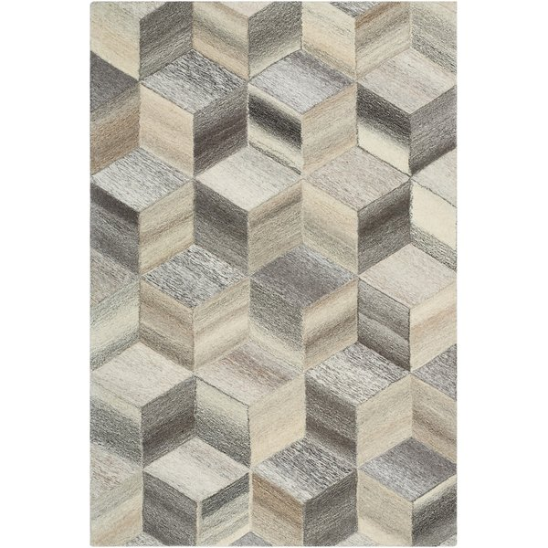Butter, Khaki, Taupe Contemporary / Modern Area Rug