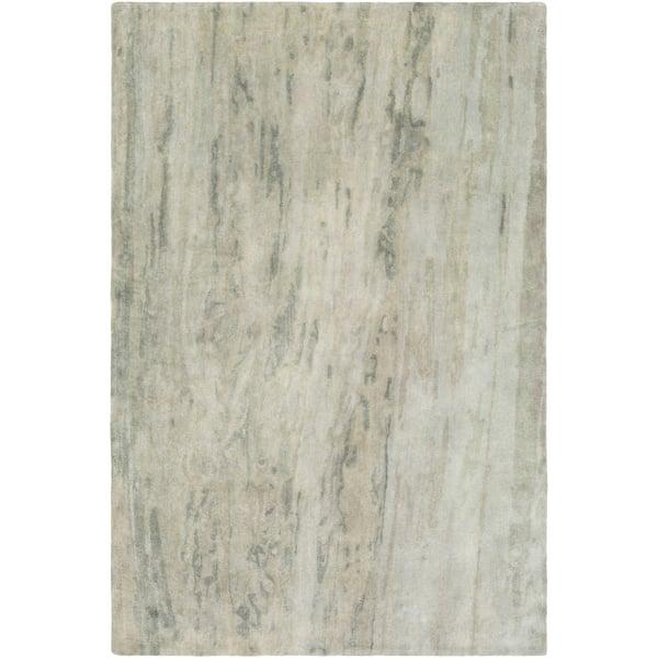 Sea Foam, Teal, Moss Abstract Area Rug