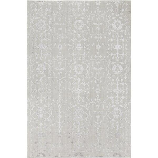 Grey, Light Grey (TDL-1027) Vintage / Overdyed Area Rug