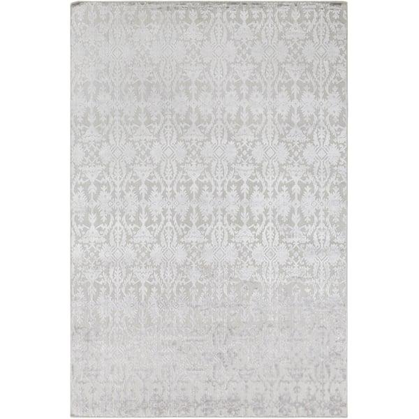 Grey, Light Grey (TDL-1045) Vintage / Overdyed Area Rug