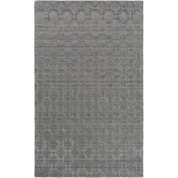 Gray, Black (AET-1000) Solid Area Rug