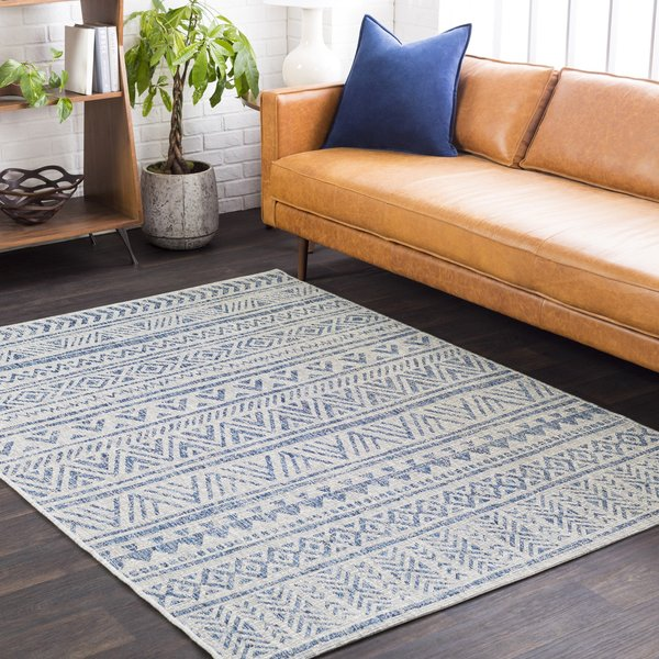Grey, Blue, Black (EAG-2306) Bohemian Area Rug