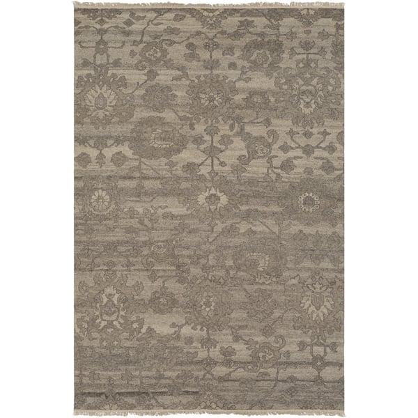 Khaki, Camel, Medium Grey Traditional / Oriental Area Rug