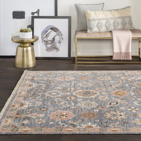 Charcoal, Taupe, Butter, Camel (GGS-1003) Traditional / Oriental Area Rug