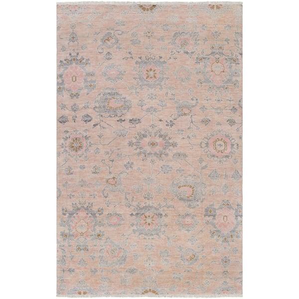 Beige, Pale Pink, Medium Grey (GGS-1005) Traditional / Oriental Area Rug