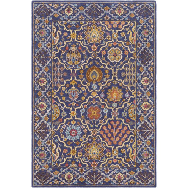 Navy, Khaki, Mustard, Red, Teal, Charcoal Traditional / Oriental Area Rug