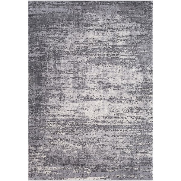 Medium Grey, Charcoal, Taupe Contemporary / Modern Area Rug