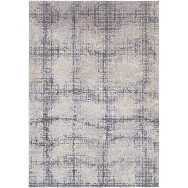 Khaki, Medium Grey, Taupe, Cream Contemporary / Modern Area Rug