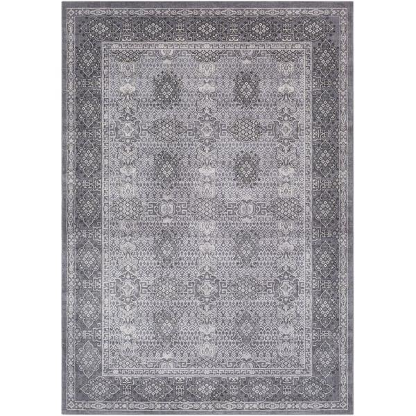 Taupe, Medium Grey, Ivory Traditional / Oriental Area Rug