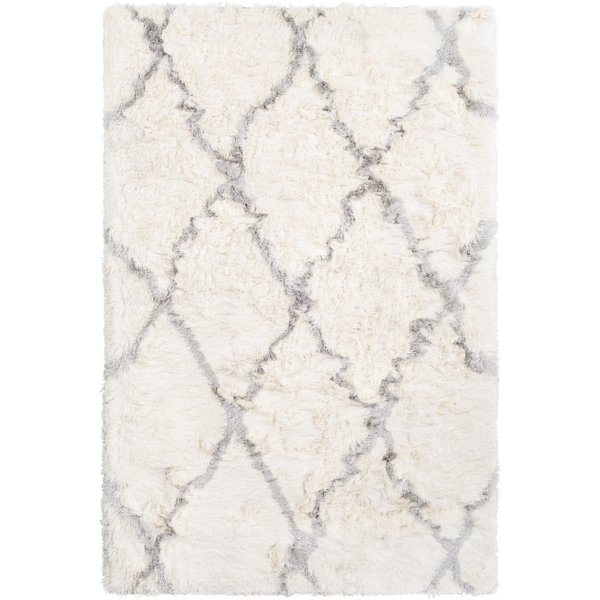 Cream, Light Grey (CSR-1000) Shag Area Rug