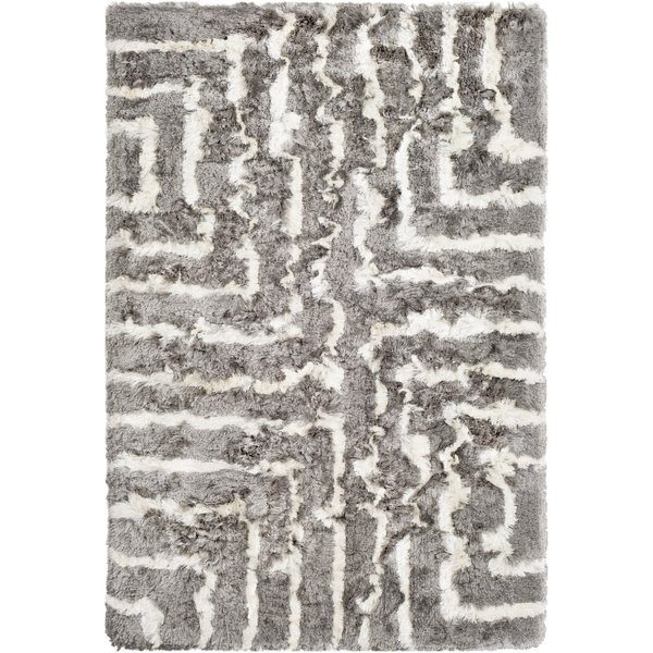 Medium Gray, Cream (CSR-1005) Shag Area Rug