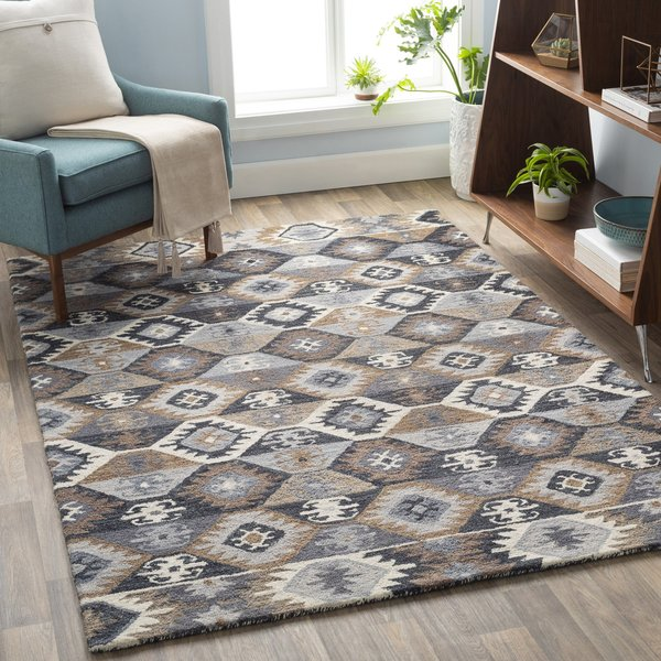 Grey, Brown, Ivory (DNA-1007) Moroccan Area-Rugs
