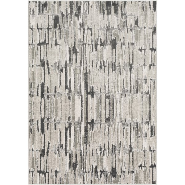 Grey, Taupe, Camel, Cream, White Abstract Area Rug