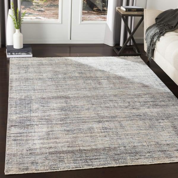 Medium Gray, Medium Gray Contemporary / Modern Area Rug