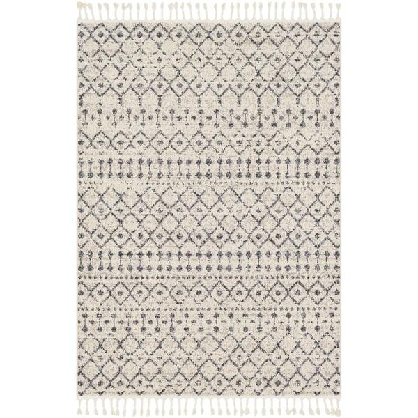 Light Gray, Medium Gray Moroccan Area-Rugs