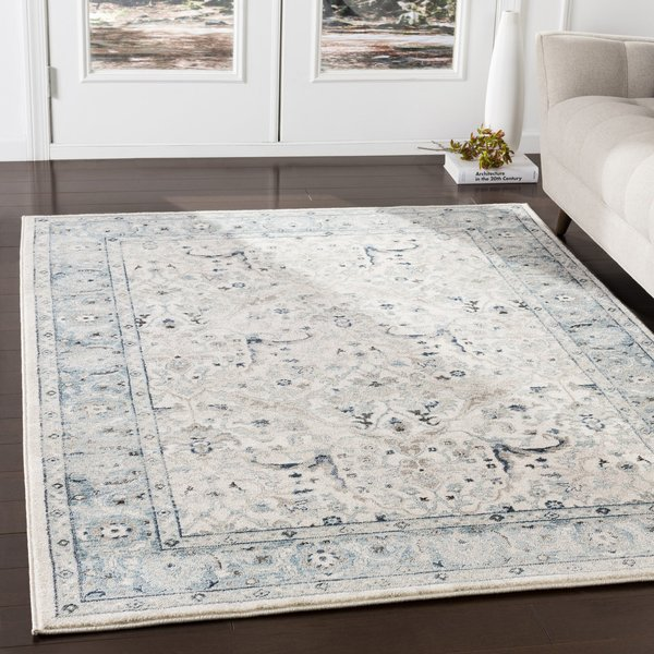 Medium Grey, Teal, Ivory (MEP-2304) Traditional / Oriental Area-Rugs