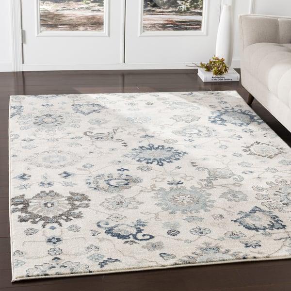 Medium Gray, Ivory, Camel, Black (MEP-2307) Traditional / Oriental Area Rug