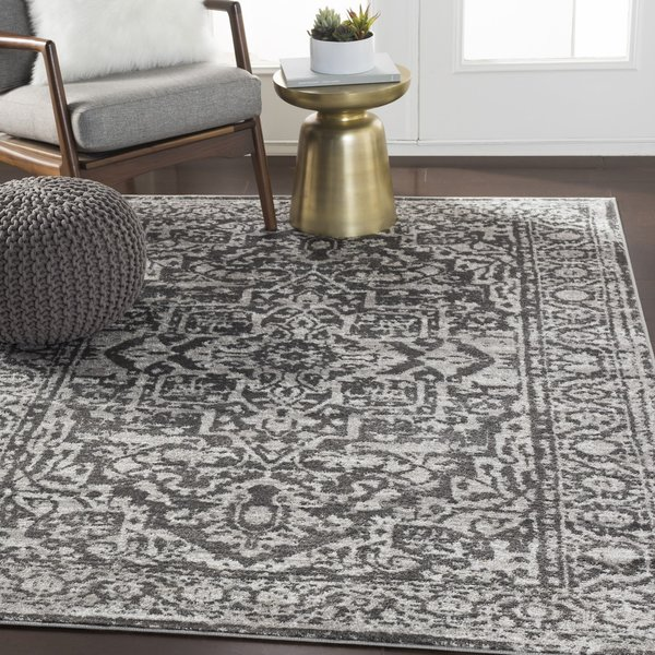 Charcoal, Light Gray (MNC-2300) Traditional / Oriental Area Rug