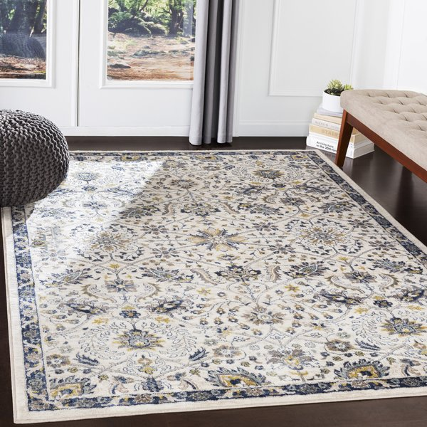 Navy, Charcoal, Butter, Camel (AHN-2307) Traditional / Oriental Area Rug