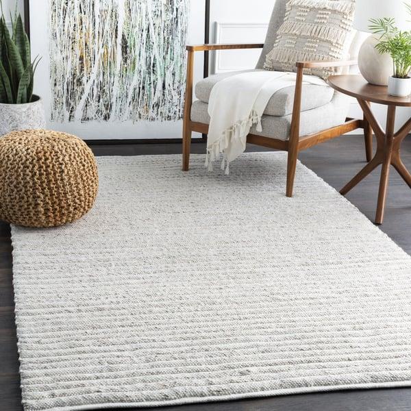 White, Dark Brown (TDA-1000) Contemporary / Modern Area Rug