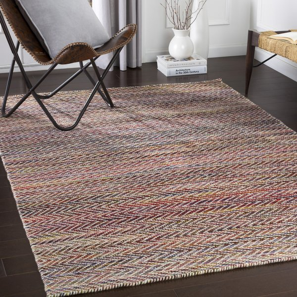 Burgundy, Eggplant, Lavender (KNL-1000) Contemporary / Modern Area Rug