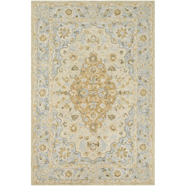 Wheat, Grey, Olive Traditional / Oriental Area Rug