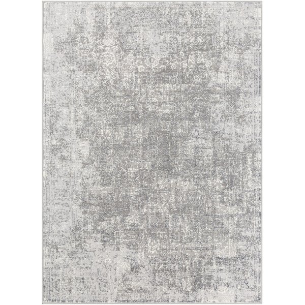 Charcoal, Grey, White Vintage / Overdyed Area Rug