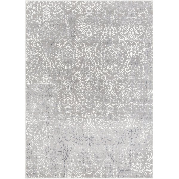 Charcoal, Light Grey, White Vintage / Overdyed Area Rug